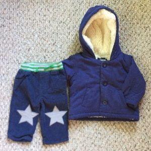 Mini Boden faux lined jacket corduroy pants